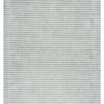 Rizzy Home Platoon PL1333 Blue/Gray Checker Area Rug