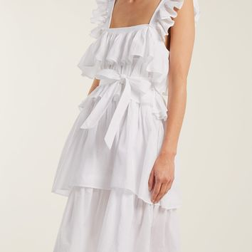 Flounce ruffled cotton dress | Wiggy Kit | MATCHESFASHION.COM