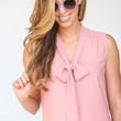 Esther Pink Bow Blouse