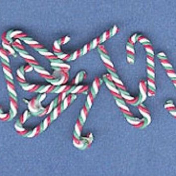 1:12 Scale Candy Canes, Red/White/Green pkg 12 #MUL2698B