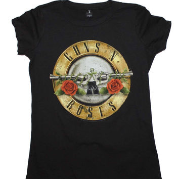 Guns n Roses Distressed Bullet Womens T-Shirt