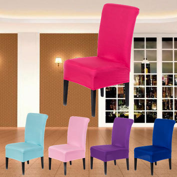 1Pcs Spandex Chair Covers Lycra Cover Wedding Banquet Anniversary Party Decor