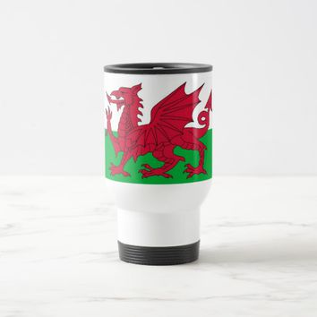 Travel Mug with Flag of Wales