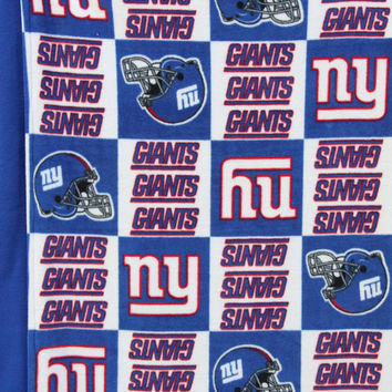NY Giants Fleece Blanket, Double Sided Blanket, Large Fleece Blanket, Teen to Adult Size