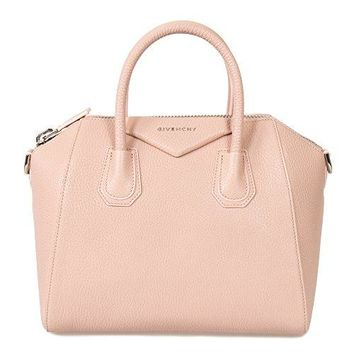 Givenchy Women's Antigona Sugar Goatskin Leather Satchel Bag, Blush Pink