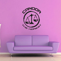 Candor Faction - Divergent - Wall Decal