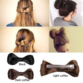 New Fashion Hairstyle Harajuku Big Bow Ties Wig Hairpin Hair Clips For Women Girls Hair accessories Bridal Headwear KQS