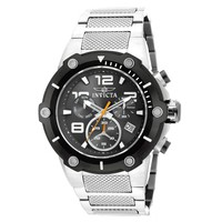Invicta 19528 Men's Speedway Black Dial Steel Bracelet Chronograph Watch