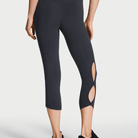 Anytime Cotton Keyhole Capri - Victoria Sport - Victoria's Secret