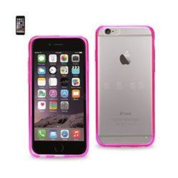 REIKO IPHONE 6 CLEAR BACK FRAME BUMPER CASE IN PINK