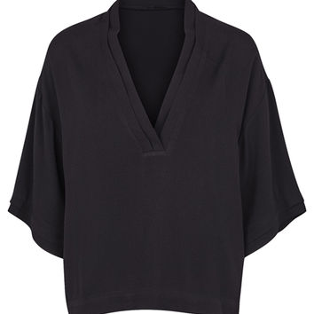 Kyle Black V-Neck Blouse