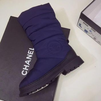 Chanel Women Fashion Casual Low Heeled Shoes Boots