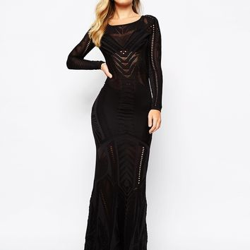 Supertrash Drease Maxi Dress With Cut Out Detail