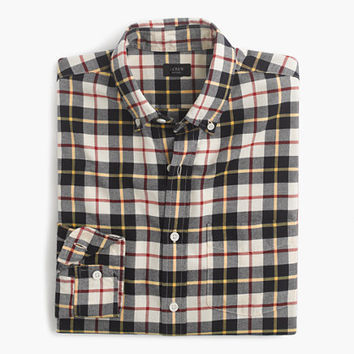 J.Crew Mens Vintage Oxford Shirt In Kelly Plaid