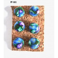 Purple and Blue Flower Pushpins Thumbtacks for Bulletin Board Handmade - Blue Morning Expressions