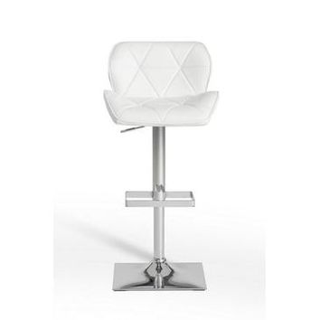 VIG Modrest T-1224 Modern Eco-Leather Bar Stool In White