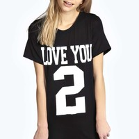 Monica Love you 2 Oversized T-shirt Nightdress