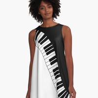 'Piano Keyboard' A-Line Dress by SusanEileenEvan
