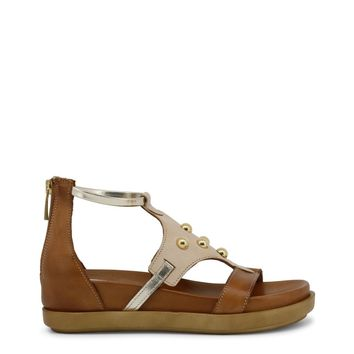 Ana Lublin Brown Ankle Strap Leather Sandals