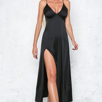 Strappy Slit Maxi Dress 10812