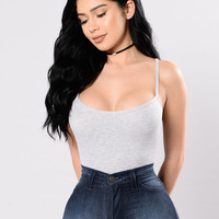 Queen Of The Game Bodysuit - Heather Grey