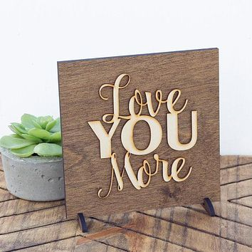 Anniversary Gift Idea - Valentine's Day Gift - Gifts for Couples - Wood Anniversary Gift - Love Quotes - Wood Signs Sayings - Bedroom Decor