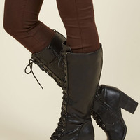 Picking Up Steampunk Boot in Ink | Mod Retro Vintage Boots | ModCloth.com