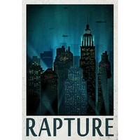 (13x19) Rapture Retro Travel Poster