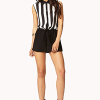 Vertical Striped Romper