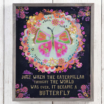 Butterfuly Big Bungalow Art by Natural Life