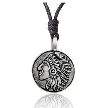 Unique Mayan Sun Symbol Silver Pewter Charm Necklace Pendant Jewelry