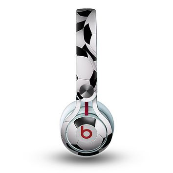 The Soccer Ball Overlay Skin for the Beats by Dre Mixr Headphones