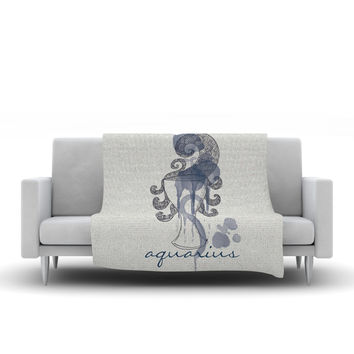 "Belinda Gillies ""Aquarius""  Fleece Throw Blanket"