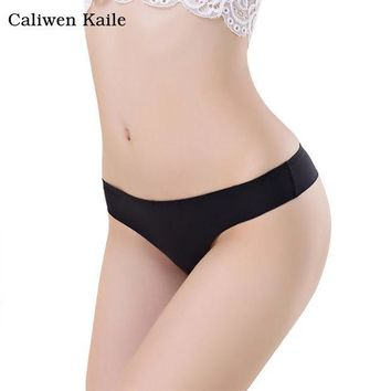ESBONHS Hot Women Invisible Sexy Panties G-Strings Thongs Cotton Spandex Seamless Low Waist Crotch T-Back Briefs Underwear New Fashion