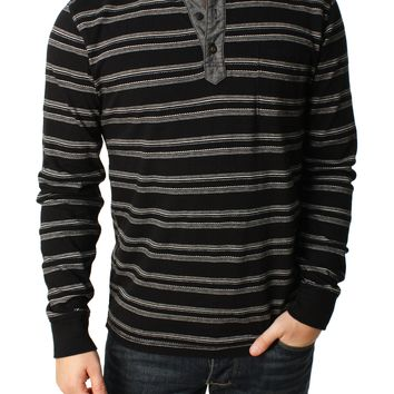 Lucky Brand Men's Jaquard Henley Shirt