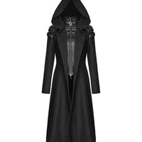 Punk Rave Psyon Womens Hooded Coat Long Jacket Black Goth Cyber Dieselpunk Witch