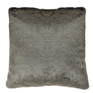 "18"" Brown Faux Fur Plush Throw Pillow"