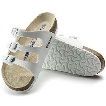 Best Online Sale Birkenstock Florida Soft Footbed Birko Flor White 0054061/0054063 San