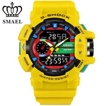 Fantastic Boy Men Style With Colorful Model Electronic Watches A Series Of Young Man 2017 SMAEL S-Shock Uhren Montre Clock 1436