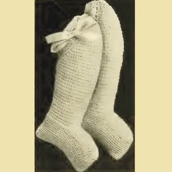 Infant Crochet Booties, Shoes. Vintage Crochet Pattern (Col 1). Baby Accessory. Baby Booties. Baby Shoes. Baby Boots. PDF Instant Download