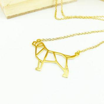 Labrador necklace, Dog Necklace, Origami Necklace, Pet necklace, Dog Pendant, Dog breed, Dog loss, Pet Lover, Pet Gift, Birthday Gift