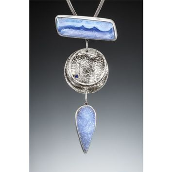 Stepping Out in Blue Lace Agate Pendant