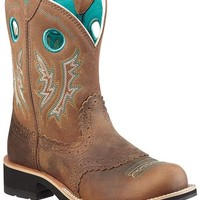 Ariat Fancy Stitched Saddle Vamp Fatbaby Boots - Round Toe - Sheplers