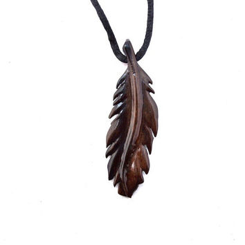 Raven Feather Necklace, Feather Necklace, Raven Feather Pendant, Native American Inspired Men Feather Necklace, Feather Pendant, Men Jewelry