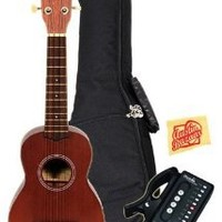 Kala MK-S Makala Soprano Ukulele Bundle with Gig Bag, Clip-On Tuner, Austin Bazaar Instructional DVD, and Polishing Cloth