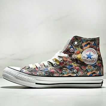 Converse All Star 100 HI High Quality New Fashion Anime Print Ca.
