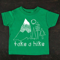 Take A Hike Toddler Tee By TrulySanctuary, Great Baby Shower Gift, First Birthday Gift, Or Party Favor