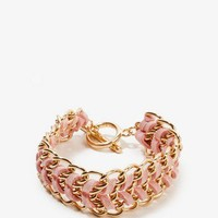 Woven Chain Toggle Bracelet   FOREVER 21 - 1023831028