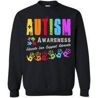 Autism Awareness Educate Love Support Advocate Tshirt