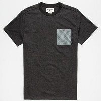Billabong Micro Lux Mens Pocket Tee Heather Black  In Sizes